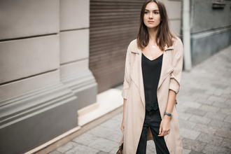 fashion agony blogger duster coat beige coat