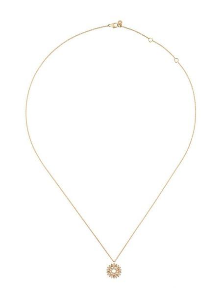 sun women necklace pendant gold grey metallic jewels