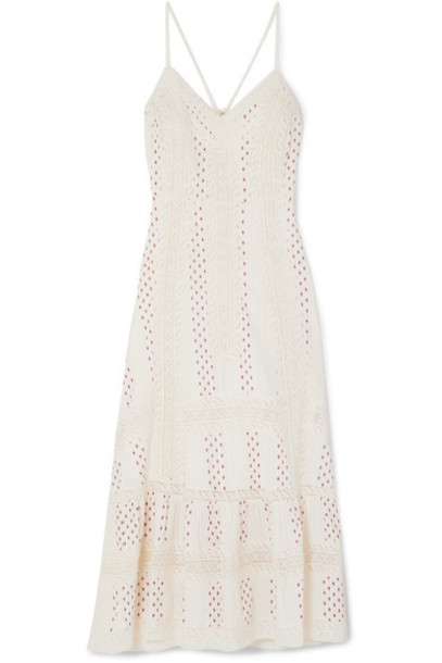 LoveShackFancy dress midi dress midi lace cotton