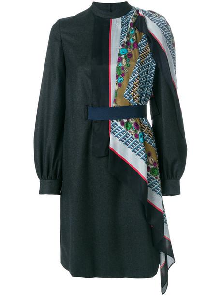 KOLOR dress women blue wool