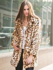 leopard print coat,faux leopard print,soft faux fur,long line coat,soft leopard faux fur,warm coat,www.ustrendy.com,coat