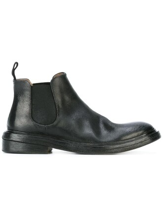 women boots chelsea boots leather black shoes