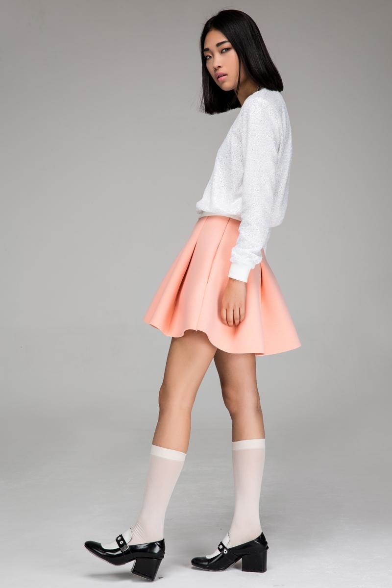 Sponge mini skirt
