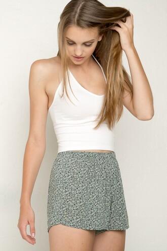 top white fille short crop tops summer beach girl