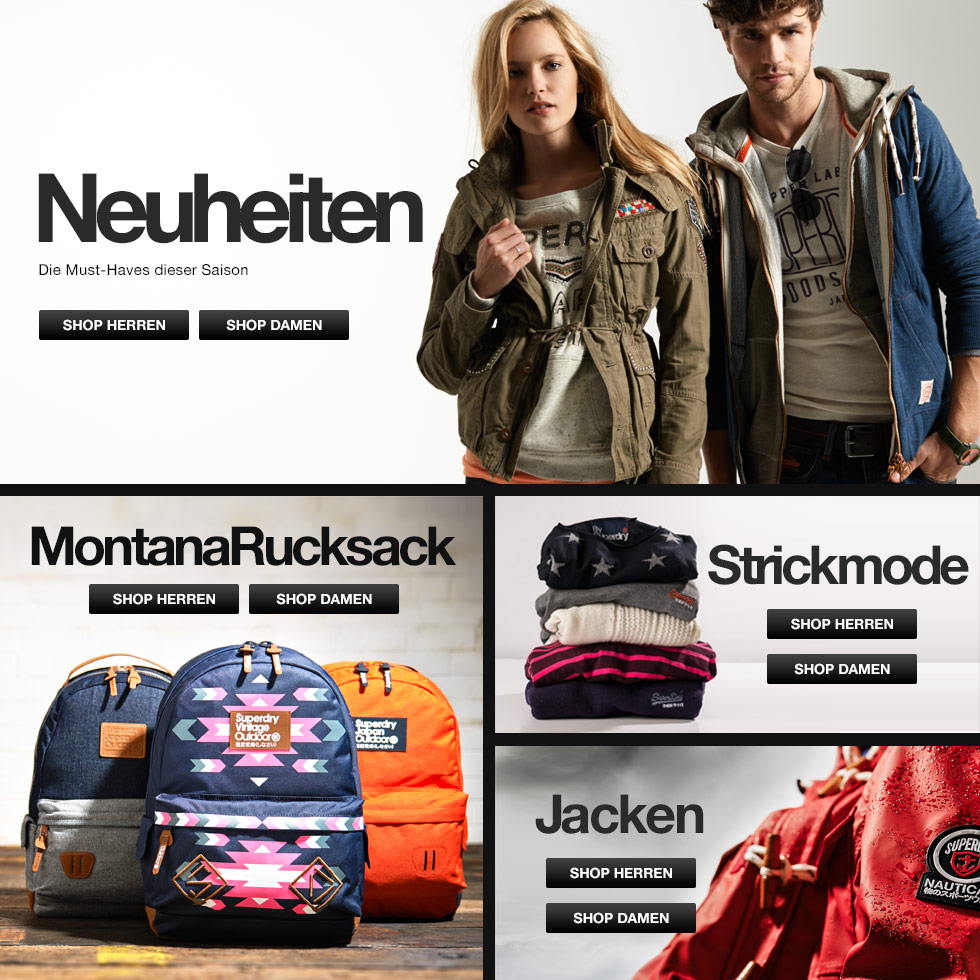 Superdry DE: Online Shop | Designer-Kleidung | Mode für Herren und Damen - Superdry