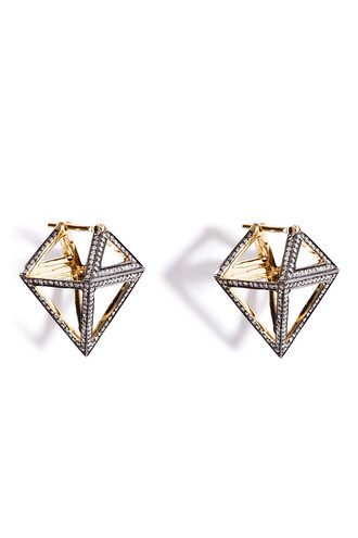 diamonds earrings gold white jewels