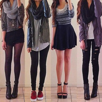 red lime sunday jacket skirt jeans top scarf fashion fall fall outfits socks cute outfits cardigan scarf red