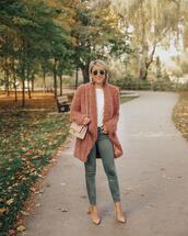 stephanie sterjovski - life + style,blogger,jacket,pants,shoes,sunglasses,fuzzy jacket