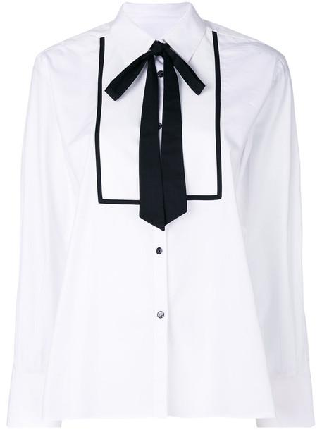 Temperley London - Enigma shirt - women - Cotton - 12, White, Cotton