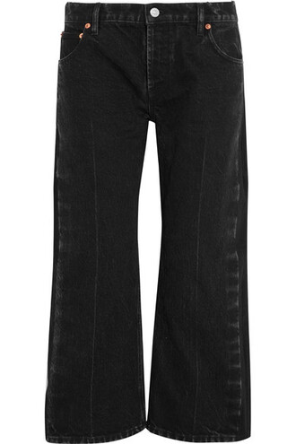 jeans cropped high rockabilly charcoal