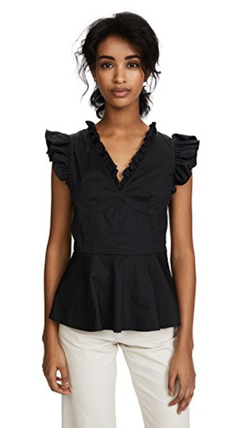 Tome top ruffle black