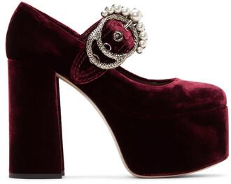 heels velvet burgundy shoes