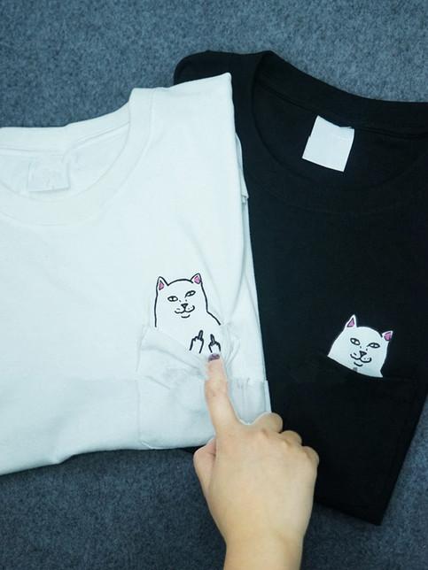 Cat Pocket T Shirt From Brave Store On Storenvy