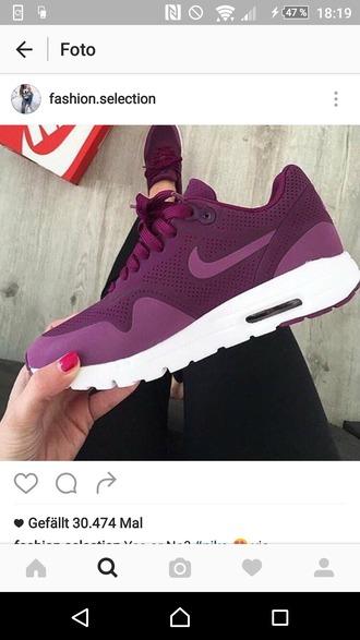 shoes purple nike shoes