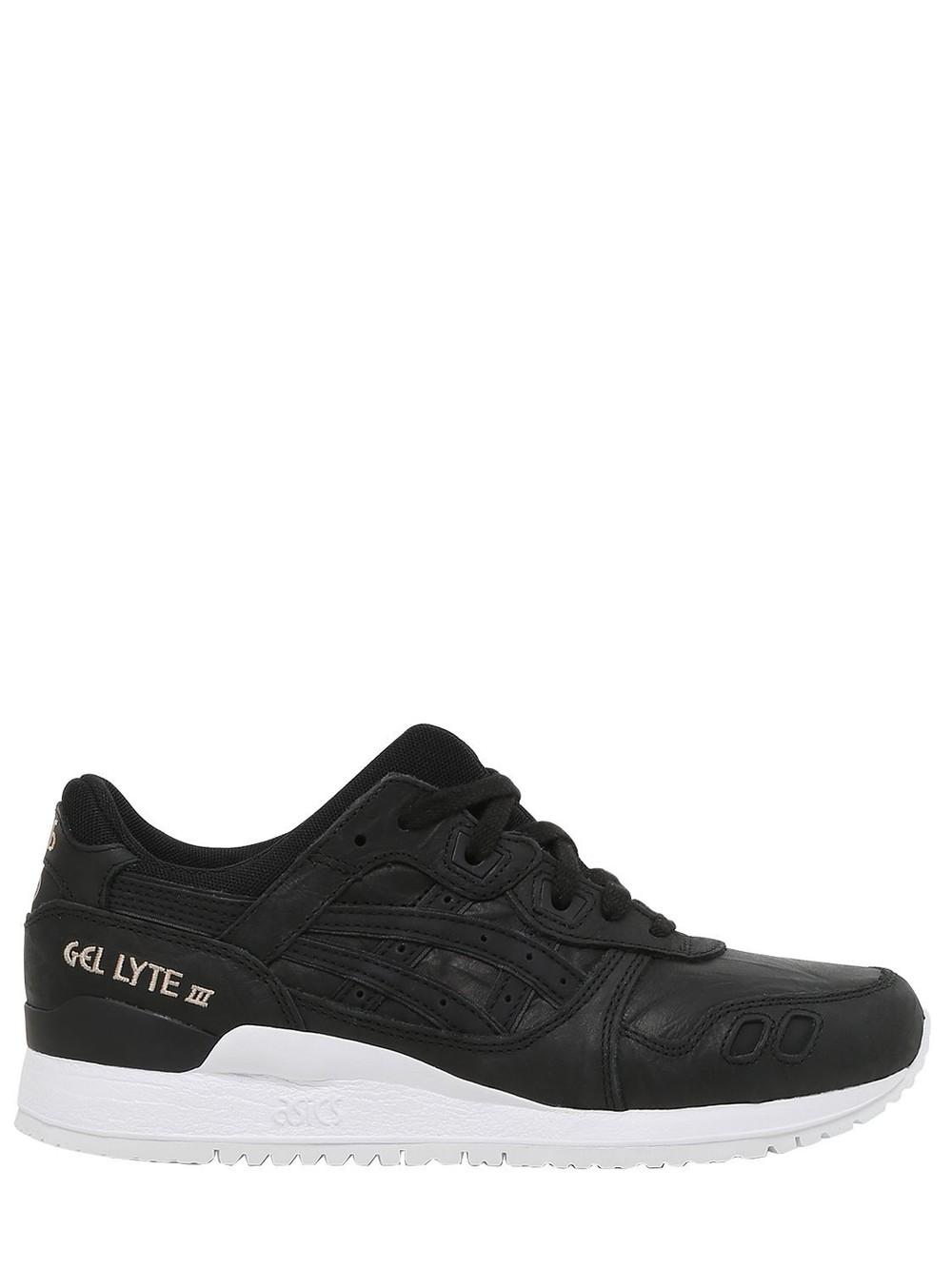 ASICS Gel Lyte Iii Wrinkled Leather Sneakers in black