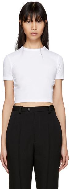 Rosetta Getty t-shirt shirt cropped t-shirt t-shirt cropped white top
