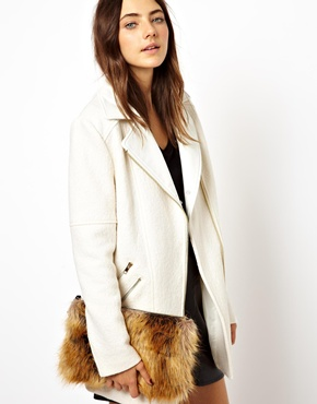 ASOS | ASOS Faux Fur Clutch Bag at ASOS