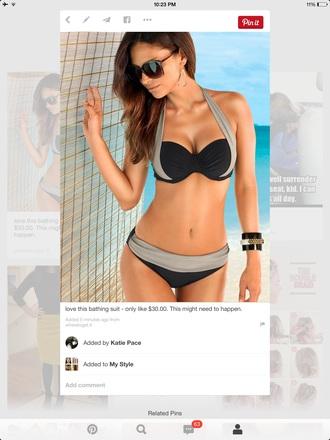 swimwear grey bikini black bikini
