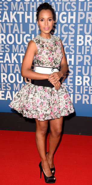 dress floral floral dress mini dress kerry washington shoes