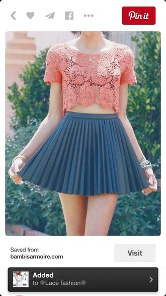 skirt pleated skirt navy skater skirt high waisted skirt style fashion preppy