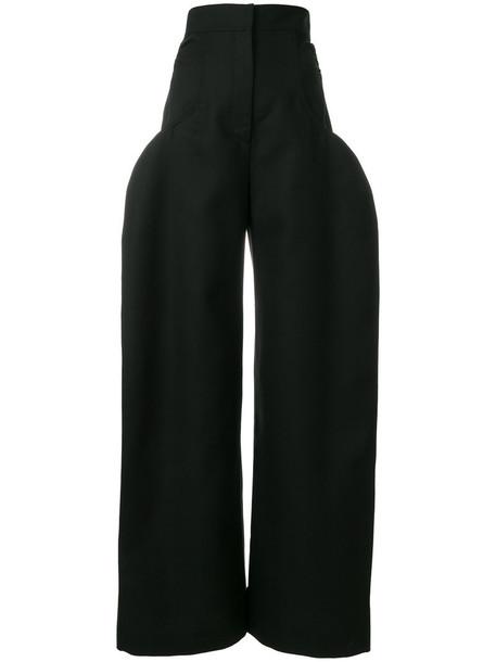 Jacquemus women cotton black wool pants