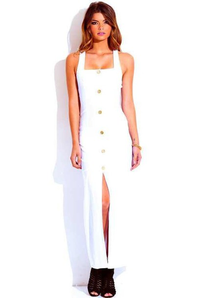 dress white white dress white t-shirt spring dress spring long dress
