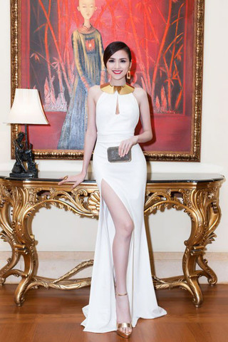 NOBLE MAIDEN SLIT MAXI DRESS in WHITE | Dresses | Women Clothes | KOOGAL
