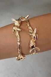 jewels,jewelry,gold,gold bracelet,bracelets,sabo skirt
