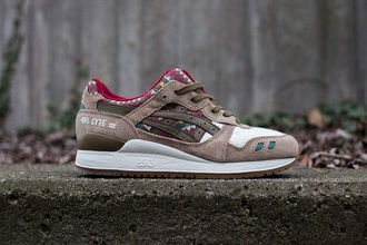 shoes asics gel lyte iii aztec asics hipster taupe fall colors