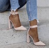 shoes,suede,light pink,heels,cute,fashion,girly wishlist,girl