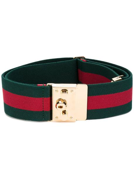 4286f812dbbb gucci Gucci - padlock web belt - women - Polyester Spandex Elastane - 90