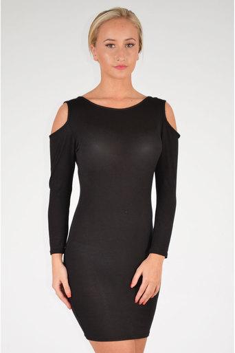 Yukta Shoulder Cut Out Bodycon Dress - Pop Couture