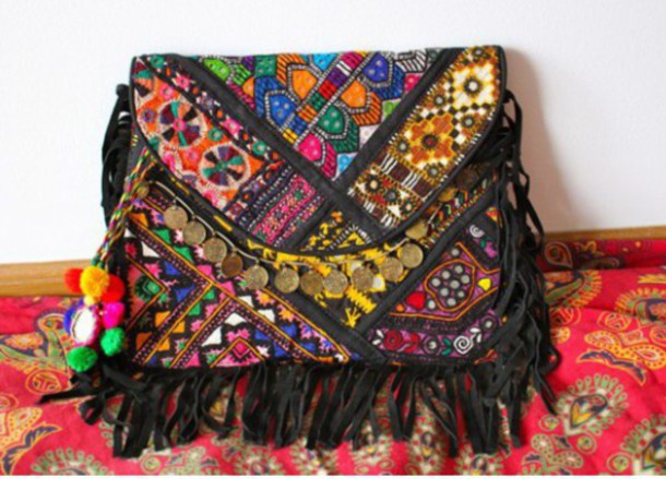 Bag: colorful, multicolor, pattern, coins, clutch, tumblr, beach ...