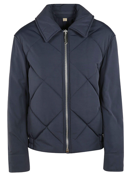 Burberry Diamond Quilted Jacket in navy