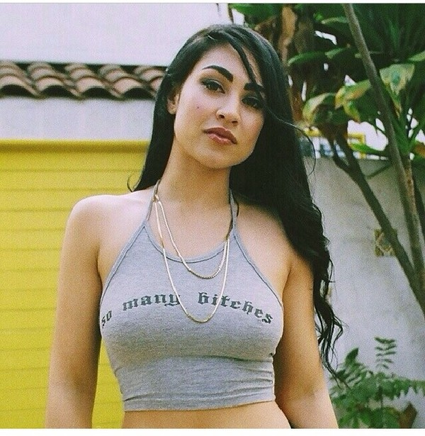 tank top so many bitches so many bitches tanktop bitch tops bitch bitch halter top halter neck halter neck top tank top tanks t-shirt t-shirt necklace chain chain jewels