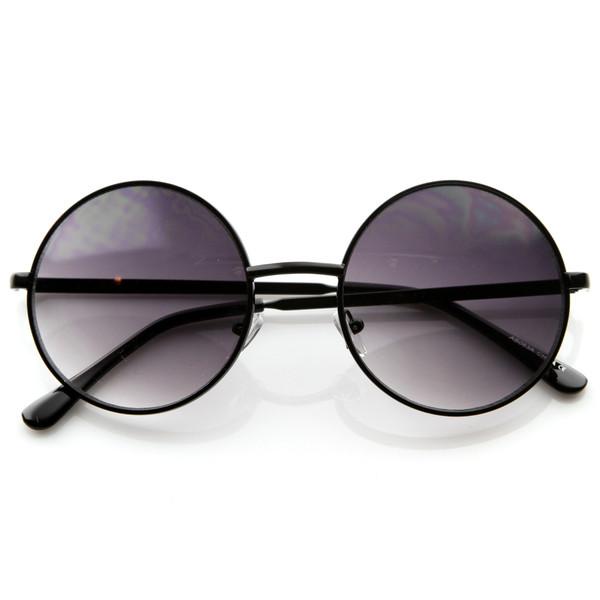 Designer medium round metal fashion sunglasses 8570