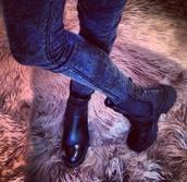shoes,boots,clothes,black,biker boots,jeans,jewels