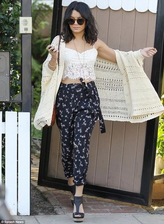 top white crop tops vanessa hudgens lace top gloves pants cardigan phone cover