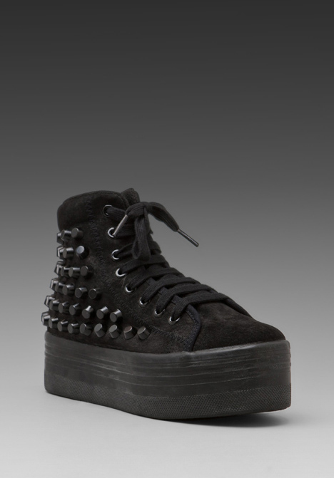 JEFFREY CAMPBELL Studded Homg Sneaker in Black Suede at Revolve Clothing - Free Shipping!