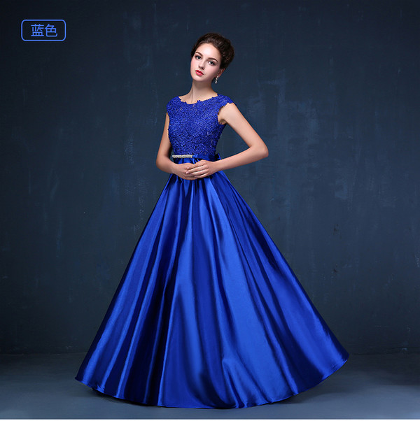 dress prom dress prom dresses 2016 royal blue long prom dress evening dress evening dress formal dress party dress lace lace dress elegant show cloth women dress wedding satin beaded dress long pageant dresses engagement party dress bridal banquet dress