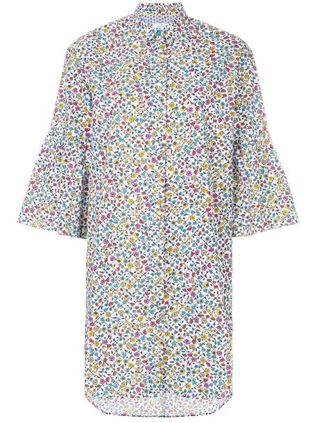 dress shirt dress women floral cotton print
