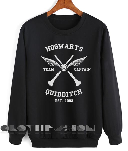Unisex Crewneck Harry Potter Sweater Hogwarts Quidditch Design Clothfusion