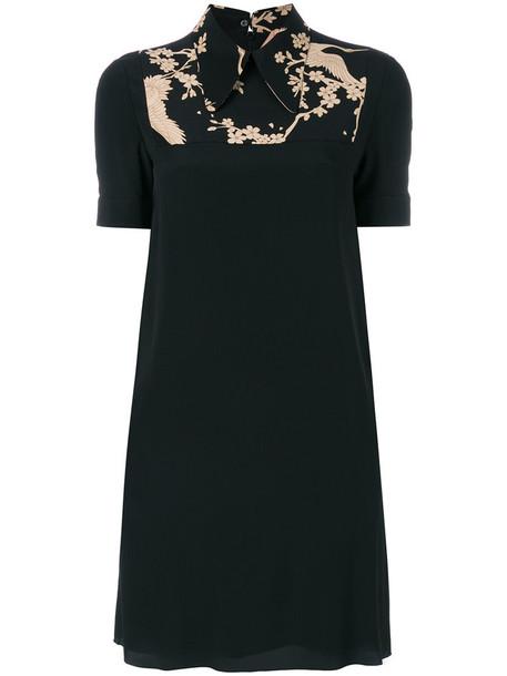 No21 dress shift dress women print black silk