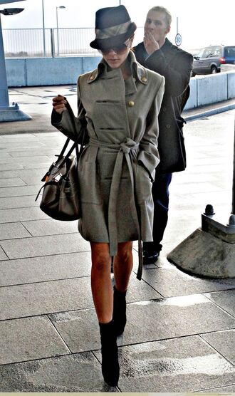 coat women victoria beckham military style