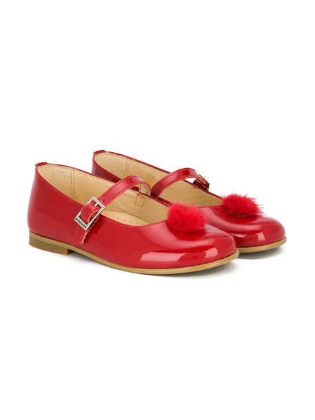 Andanines Shoes leather red shoes