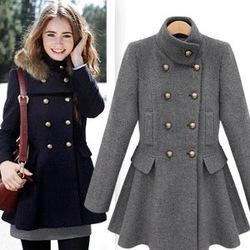 2012 nieuwe mode vrouw bever wind jassen bovenkleding jas bovenkleding wollen jas met vos bont capuchon