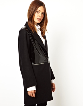 ASOS | ASOS Patent Zip Detail Coat at ASOS