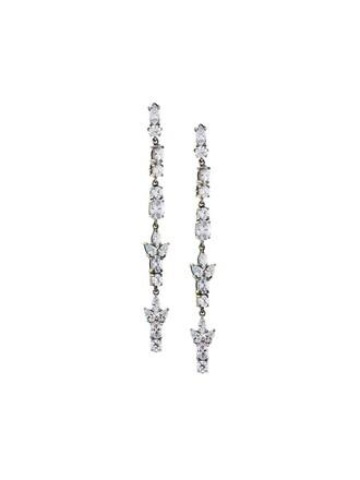 earrings white metallic jewels