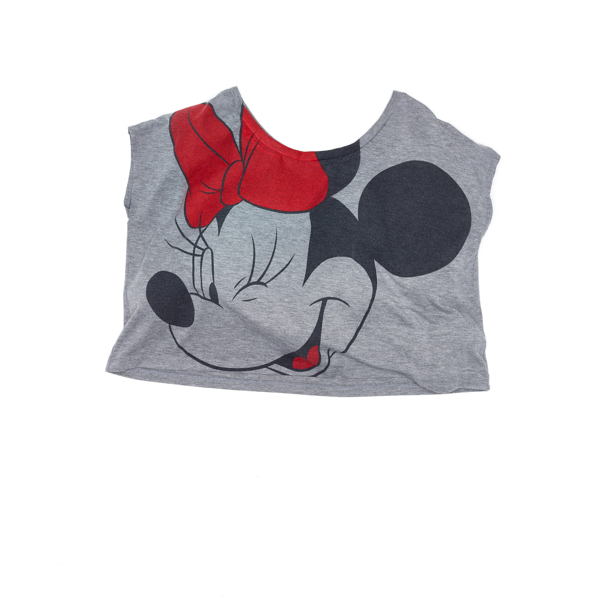 Minnie Mouse Crop Top Grey