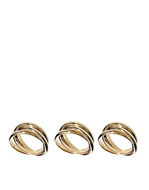 ASOS | Limited Edition 3 Russian Ring Pack at ASOS